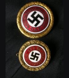 Gold Party Badges- Matched Set  # 1134