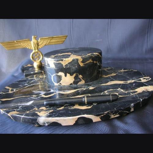 Marble Two Piece Desk Set- Kriegsmarine # 1167