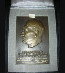 Boxed Presentation Adolf Hitler Table Award # 1177