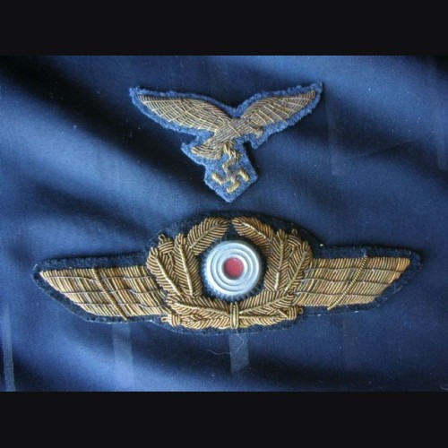 Luftwaffe General's Bullion Cap Eagle And Cockade  # 1225