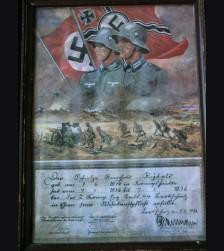 Wehrmacht Award Certificate # 1228