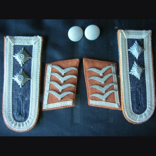 Luftwaffe Collar Tabs And Boards ( Oberfeldwebel ) Signals  # 1291