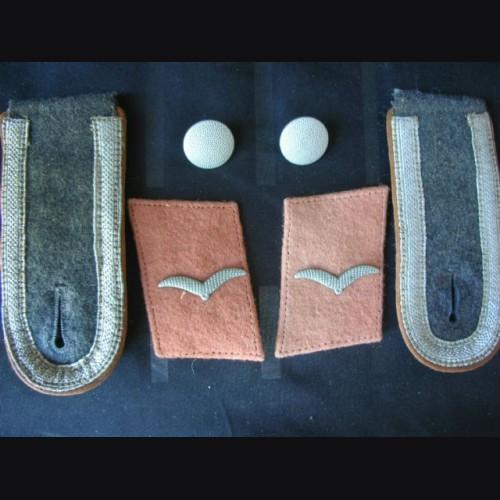 Luftwaffe Collar Tabs And Boards ( Unteroffzier ) Signals # 1297