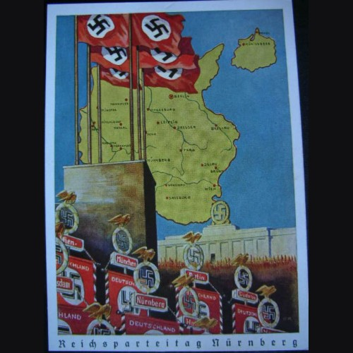Nuremberg Party Rally Proof Card 1939  # 1322