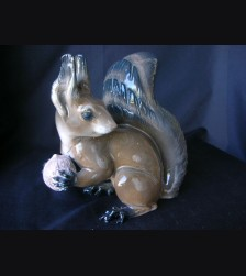 Large Rosenthal Gray Squirrel With Nut ( Prof. Karner ) # 1333