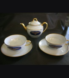 Hermann Goring Formal Dinnerware- Tea Pot & Saucers # 1407