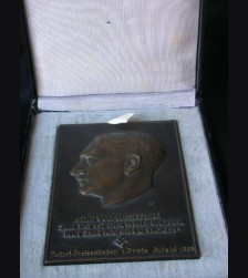 Cased Adolf Hitler Presentation Plaque- Deutsches Polizei 1936 # 1428