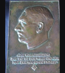 Adolf Hitler Plaque- Bronze # 1430