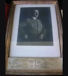 Adolf Hitler Presentation Frame ( Boxed ) AH Staatsrahmen # 1443