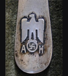 Adolf Hitler Silver Serving Spoon ( Informal Pattern ) # 1448
