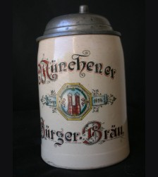 Munich Burger Brau Beer Stein # 1630