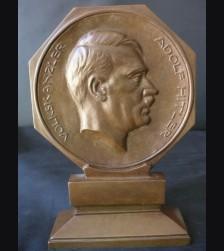 Adolf Hitler Standing Bronze Desk Piece D.D.A.C # 1632