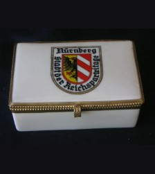 Nuremberg Reichs Party Day Porcelain Box # 1634