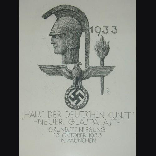 Haus Der Kunst Etching for the 1933 Groundbreaking ( Richard Klein ) # 1665