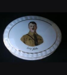 Adolf Hitler Porcelain Trinket Box # 1673