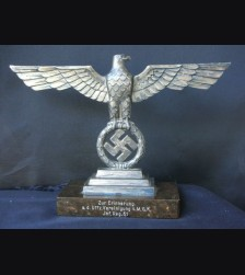 Pabst Style Desk Eagle W/ Dedication- Wehrmacht # 1678