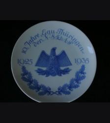 Gau Thueringen Anniversary Plate- Schoenau # 1700