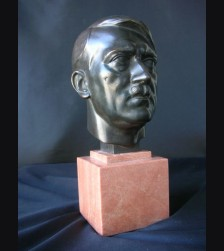 Der Fuhrer Bust- Adolf Hitler Bronze Desk Piece ( H.J Pagels ) # 1704