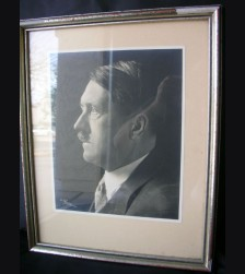 Framed Adolf Hitler Studio Photo Presentation Piece # 1741