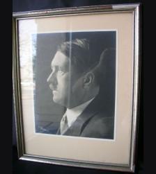Framed Adolf Hitler Studio Photo Presentation Piece # 1741
