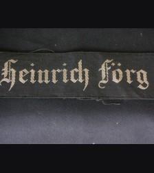 S.A Martyr Cufftitle- Heinrich Forg/ 1934 # 1784