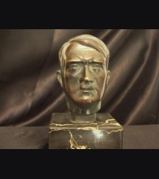 Adolf Hitler Bronze Desk Bust ( Schmidt Hofer ) # 1869