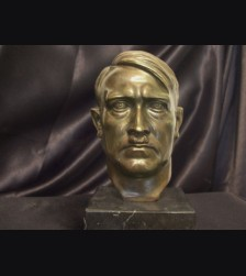 Adolf Hitler Bronze Desk Bust ( Zoll ) # 1870