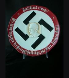 Deutschland Erwache! Propaganda Plate- Early # 1887