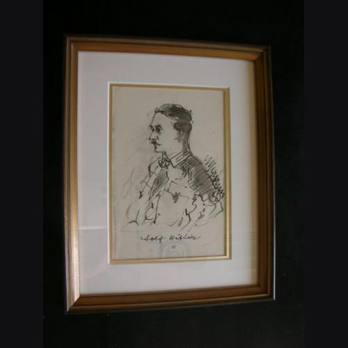 Adolf Hitler Artist Sketch- Albert Reich (1881-1942) # 1899