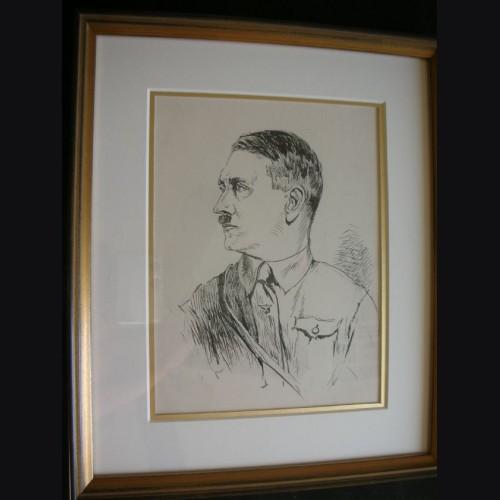 Adolf Hitler Artist Sketch- Albert Reich (1881-1942) # 1900