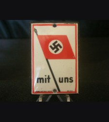 Mit Uns Door Plaque- Small # 1931