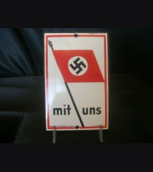 Mit Uns Door Plaque- Large # 1932