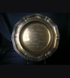 Presentation Silver Salver- Oberst Hofrichter (.830) # 1940