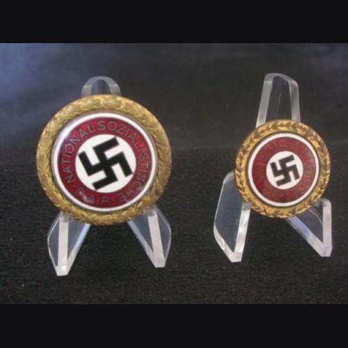 Gold Party Badges-Matched Set # 1958
