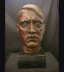 Adolf Hitler Bronze Bust 2x Life- (Walther Wolff) 1933 # 1979