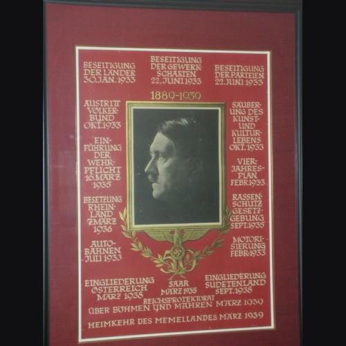 Adolf Hitler 1939 50th Birthday Poster and Postcard- Heinfrich Hoffmann # 1995