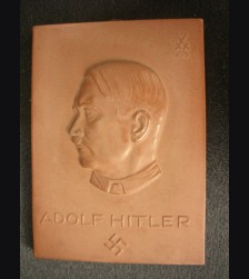 Meissen  Adolf Hitler Plaque 1933-34 Winter Relief ( Rare ) # 2091
