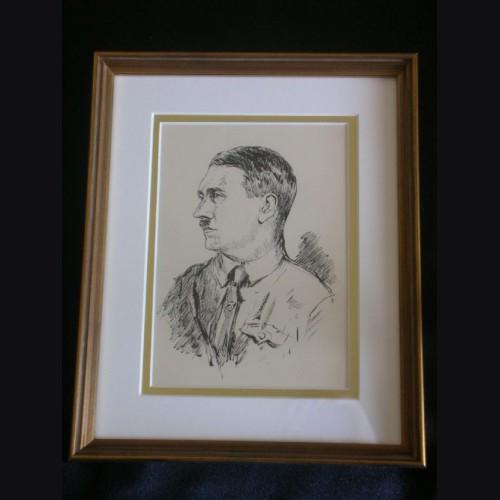 Adolf Hitler Artist Sketch- Albert Reich (1881-1942)