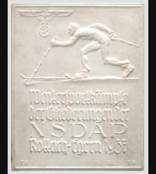 Allach Award Plaque/ Plakette zu den NSDAP Wintersportkampfen 1937 # 589