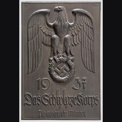 Allach Award Plaque/ Ehrenplakette fur die Reichspropaganda-Aktion 1937 # 591