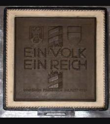 Allach Award Plaque/ Julfest Plakette 1937 # 592