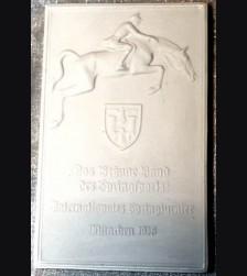 Allach Award Plaque/ Plakette zum Braunen Band Munchen 1938 # 593