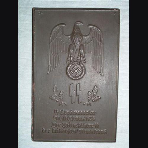 Allach Award Plaque/ Plakette Gepackmarsche Meisterschaft. 1938 # 616