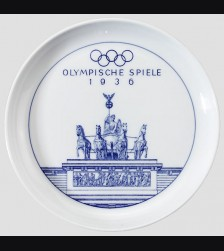Meissen Plate 1936 Olympic # 625