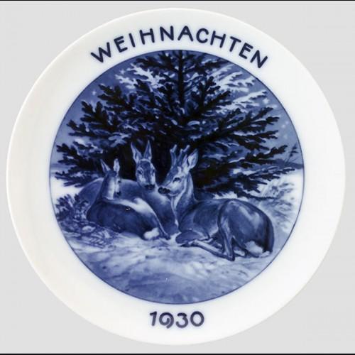 Rosenthal Weihnachten Plate 1930 # 636