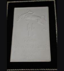 Allach Award Plaque/ Plakette SS Reiter Wettkampfe Munchen 1936 # 669