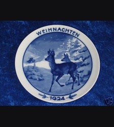 Rosenthal Weihnachten Plate 1924 # 678