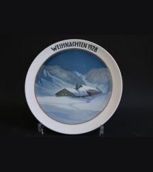 Rosenthal Weihnachten Plate 1928 # 681
