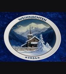 Rosenthal Weihnachten Plate 1934  # 684