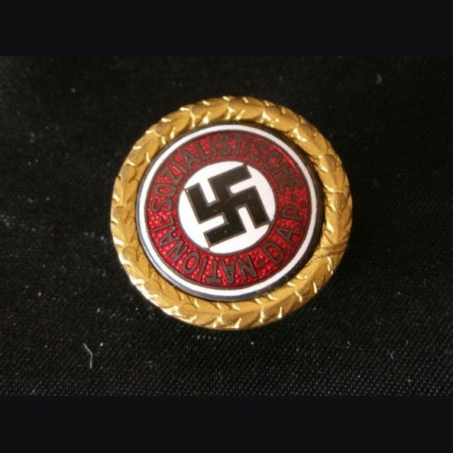 Gold Party Badge to SS Officer Max Sollmann # 805